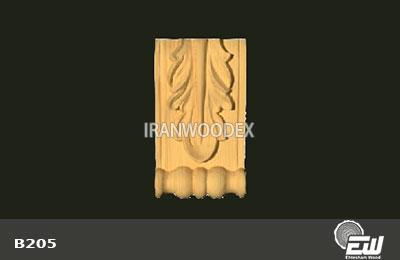 سرستون تخت احتشام چوب-B205