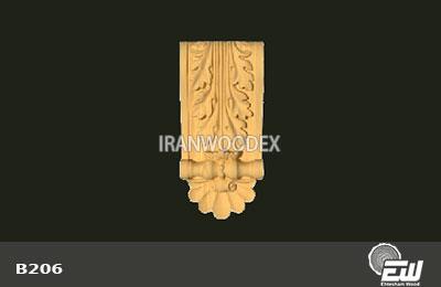 سرستون تخت احتشام چوب-B206