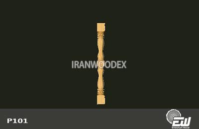 ستون نرده احتشام چوب -P101