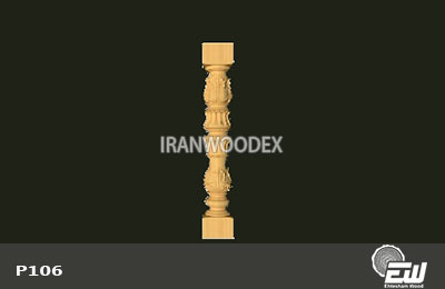 ستون نرده احتشام چوب-P106