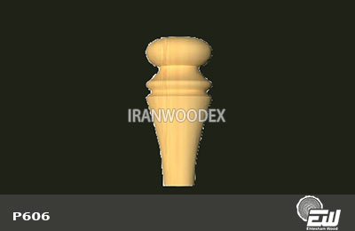پایه خراطی کوتاه احتشام چوب-P606