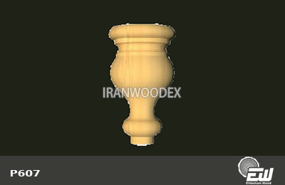 پایه خراطی کوتاه احتشام چوب-P607
