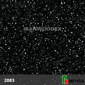 صفحه کابینت پاک چوب-2083-گرانیت مشکی