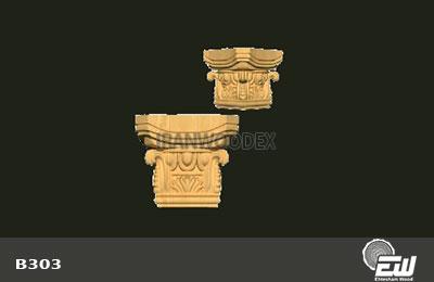 سر ستون روتاری کامل احتشام چوب-B303
