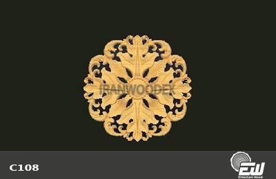 گل دایره احتشام چوب-C108